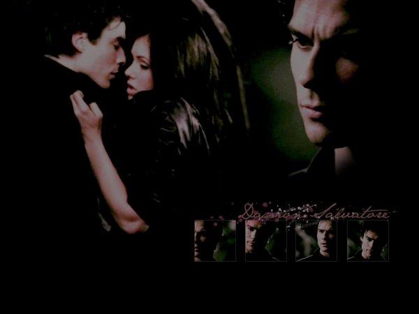 Saison 1 épisode 22 Damon embrase Elena .