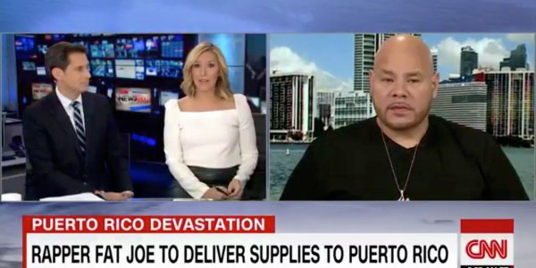 "The Game on BET 8 min ·  Somebody has to step up, right? Quelqu'un doit se lever, non ?  ·  Notez cette traduction  Fat Joe Is Doing What Trump Couldn't Do For Puerto Rican Hurricane Victims ""We feel stranded."" WWW.BET.COM"