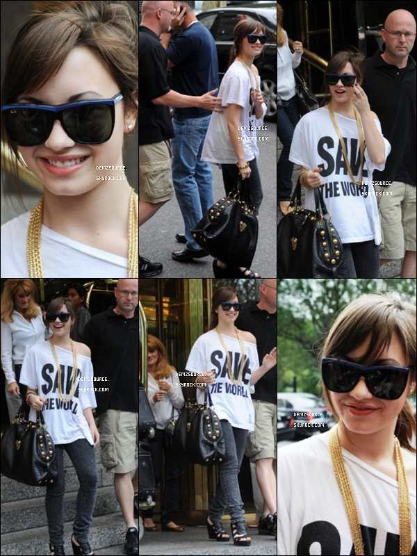 FlashBack  * Demi Quitte son hôtel à New York - 29.08.08*