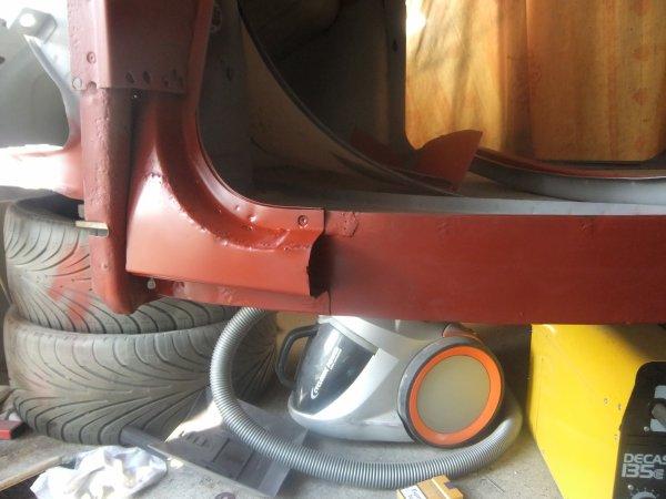 restauration des bas de caisse et des longerons ( 3 )