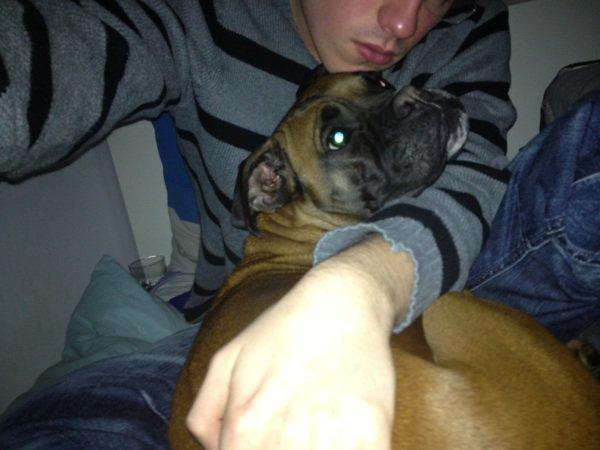 Ma petite chienne et moi