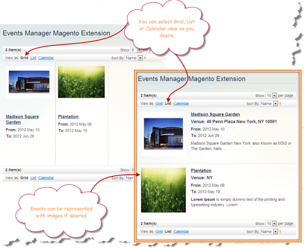 FME Events Manager | Magento Events Calendar Extension