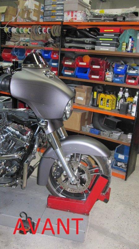montage roue 23 pouces Bagger