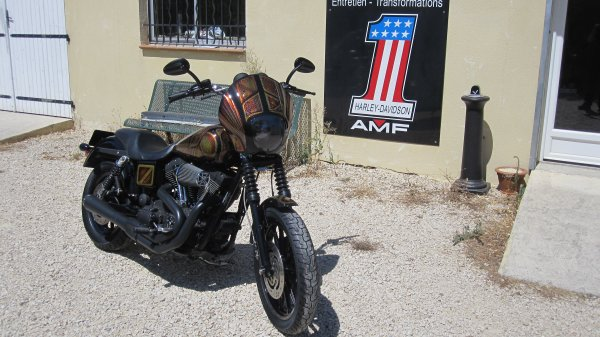 Harley Davidson FXDXI monté thailand style dynamite crew