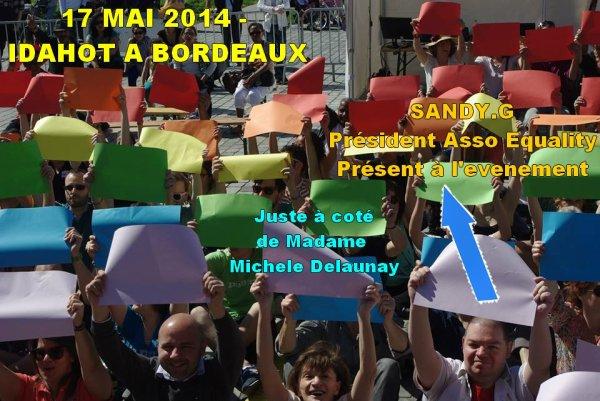 17 MAI 2014 - DOUBLE ENGAGEMENT DE NOTRE ASSO EQUALITY