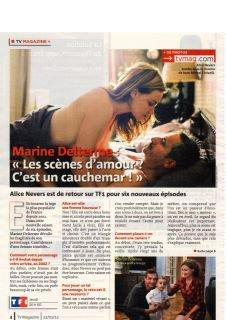 Interview plus shotting de Marine Delterme pour tv mag !