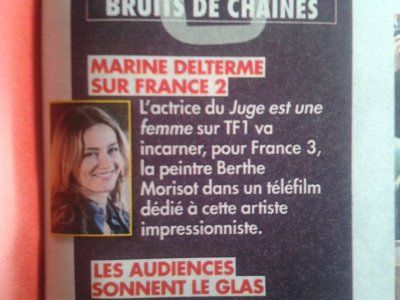 Marine Delterme est Berthe Morisot pour france 3 elle en parle a Tv grandes chaine !