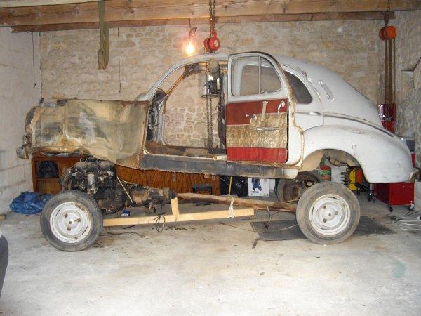 Séparation de la carcasse et de la partie mécanique