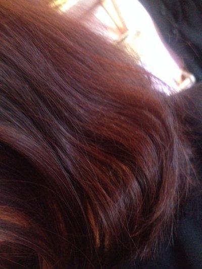 J'ai les cheveux rouges ?