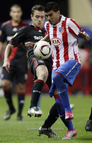 Atlético draw on europa league agianst luverkusen and lost 2 punto