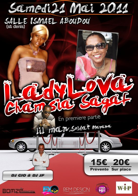 LADY LOVA ET CHAMSIA SAGAF  DEBARQUE DANS LE 974 !!!!!!!