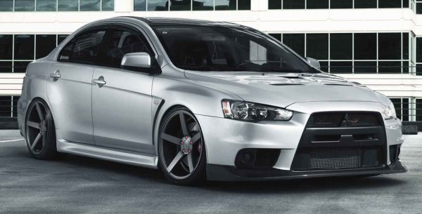 Automobile: Mitsubishi Lancer Evo X by Vossen