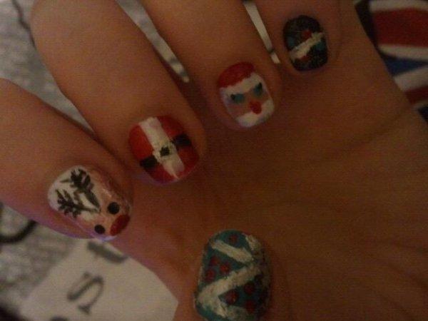Ma manicure du debut des vacances ;)