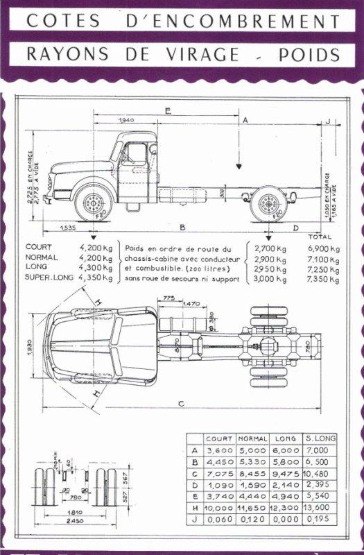 PLAN DES WILLEME (3 modèles) LC 610 de 1952