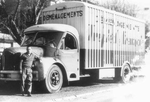 BERLIET GLR 8 R en cabine Cottard en 1957