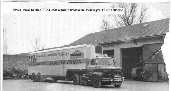 Un BERLIET TLM 10 M 2 semi frigorifique