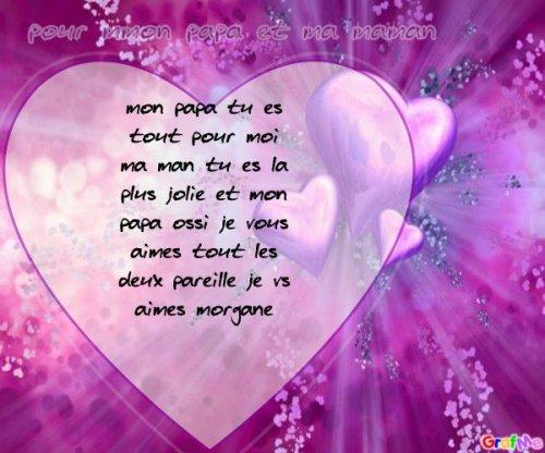 Petit Poeme Pour Mn Papa Et Ma Maman Moi Et Ma Famille