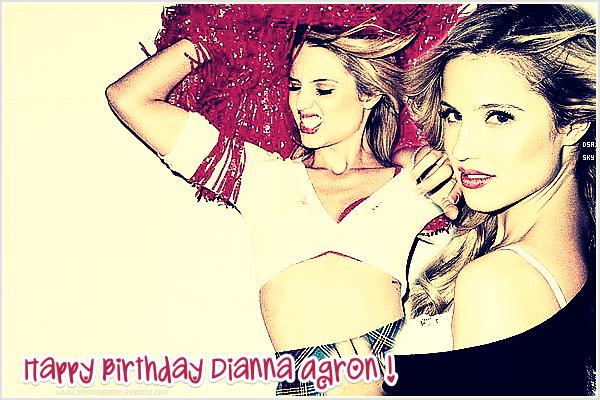 En cette journée du 30 Avril 2011, Dianna Agron fête ses vingt cinq ans !