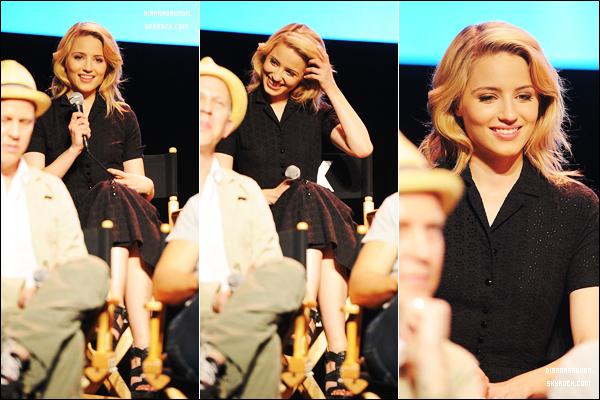 4 mai 2011 : La nuit tombée, Dianna & les producteurs et acteurs de Glee étaient à une conférence de presse.
