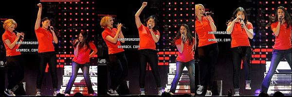 21/05/2011 : Dianna et tout  les membres du cast de Glee performant pour le « Glee Tour 2011 » à Las Vegas.
