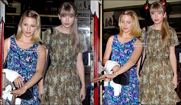 15 Mai 2012 |Notre fleurie Dianna a été vue sortant du restaurant « Dominic's » avec son amie Taylor Swift .