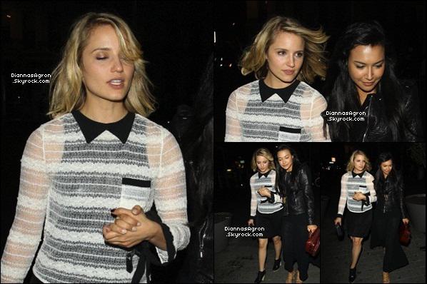 Le 23 Mai 2012 |Di a été vue à Londres, allant avec Naya Rivera et Matthew Morrisson dans la boite de nuit Boujis.