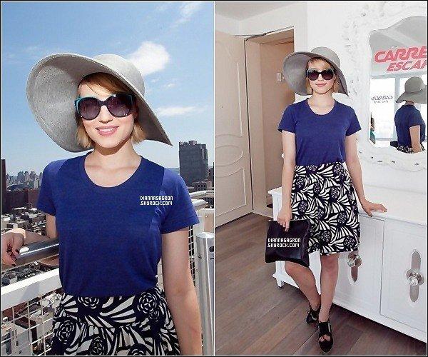 10 Juillet 2011  : Dianna a été apercu à l'évènement « Carrera Sunglasses Escape » qui c'est passé à NY.