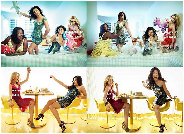 Découvrez de nouvelles photos d'un ancien photoshoot où Di' pose avec les filles du Glee Cast.