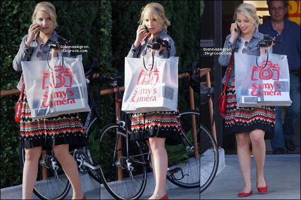 Le 17 Mai 2012 | Dianna a été vue s'achetant un appareil photo et autres accessoires dans West Hollywood.