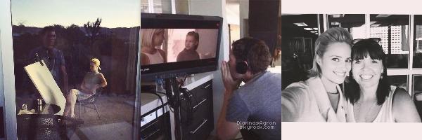 Tess est sous les feux des projecteurs grâce aux photos tournage de'Headlock' sur Instagram.