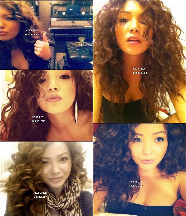 Jazzy s'est teinté les cheveux en brun, et elle a posté quelques nouvelles photos personelles.  - Elle avait déja teinté ses cheveux en brun auparavant :)