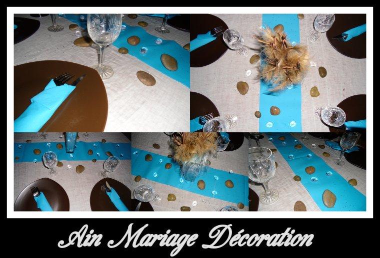 Déco thème couleur bleu marron - Le Blog Ain Mariage