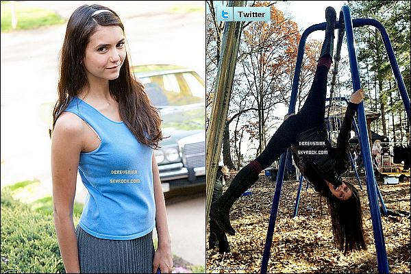 Découvrez de nouvelles photos sur le Set de The Vampire Diaries avec Gabby  Douglas   Le jeune gymnaste qui a remporté deux médailles d'or aux Jeux Olympiques 2012 a été invité un tant que personnage secondaire dans l'épisode 4x07