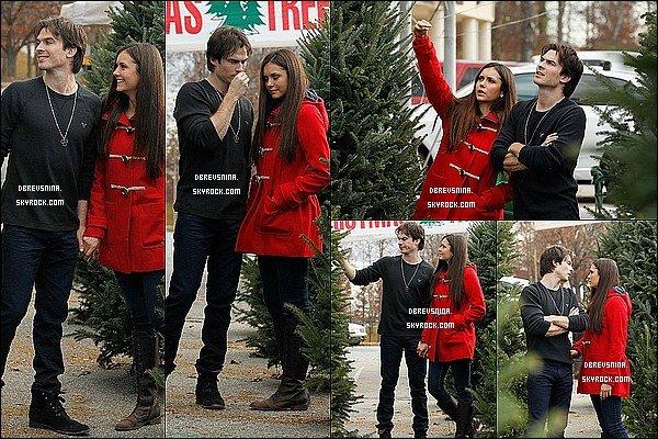 03/12/12 - Nina était à Atlanta en compagnie de Ian et ensembles, ils sont allés acheter un  sapin. Juste des amours.Ils ont l'air d'un couple tout a fait ordinaire et très heureux de préparer les fêtes de Noël. Un gros TOP !
