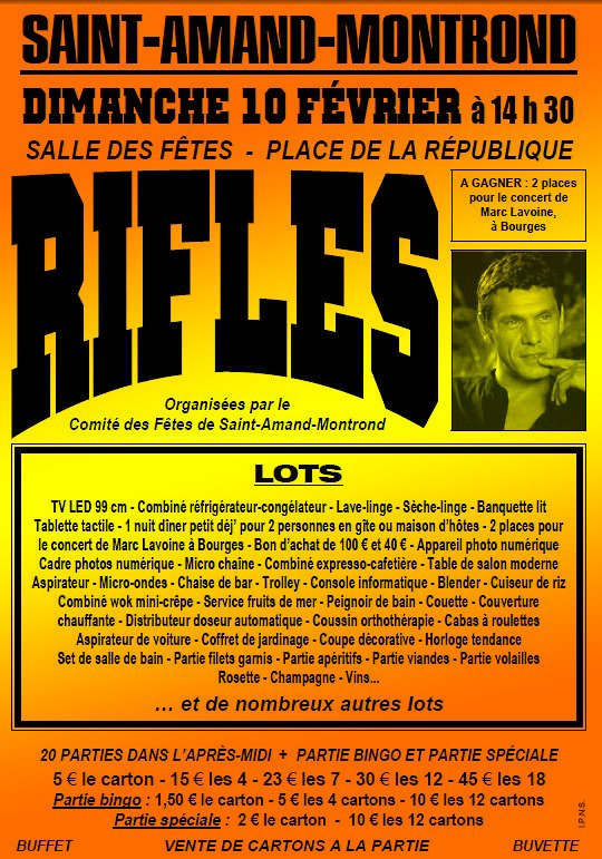 DIMANCHE 10 FEVRIER 2013 : RIFLES DU COMITE DES FETES