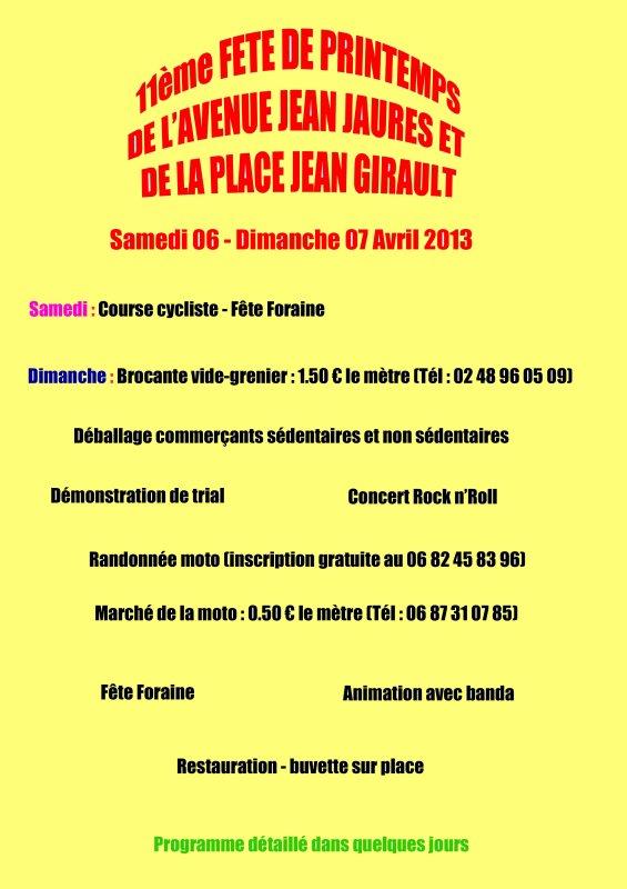 FETE DE L'AVENUE JEAN JAURES 06 ET 07 AVRIL 2013