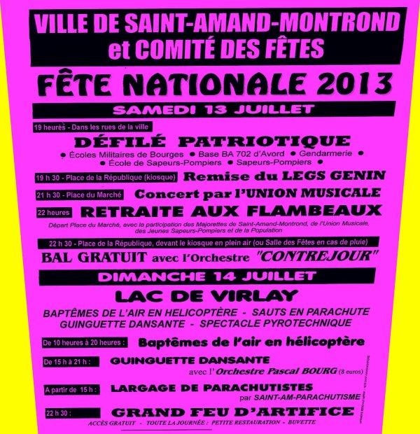 FESTIVITES 13 et 14 JUILLET 2013