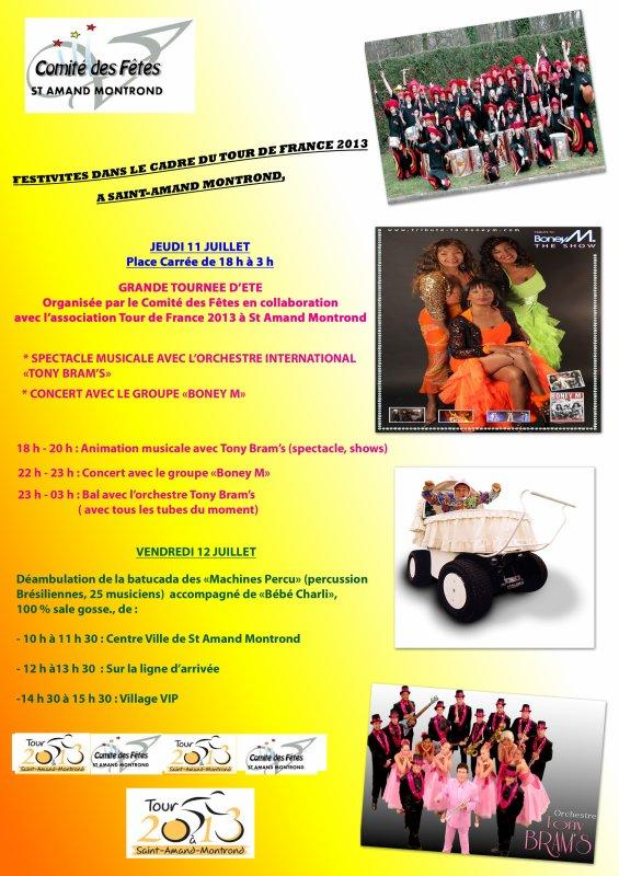 FESTIVITES 11 ET 12 JUILLET 2012 dans le cadre du TOUR DE FRANCE