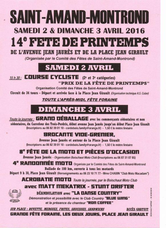 FETE  DU PRINTEMPS  2 et 3 avril