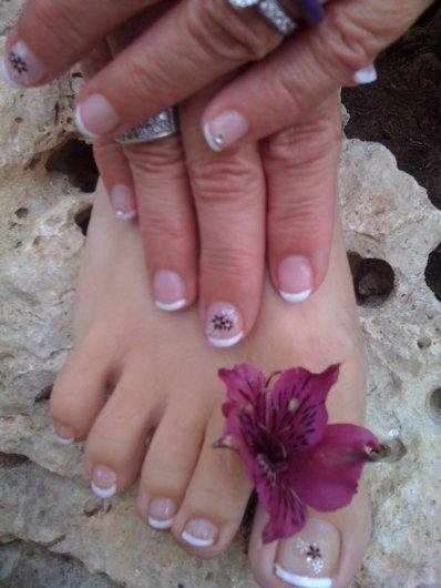 pose gel sur ongles naturel mains pieds avec rallongement chablon pouce