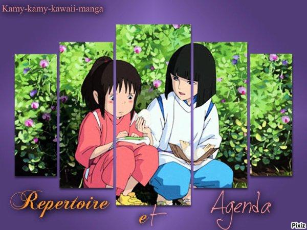 ☆ Répertoire et Agenda ☆