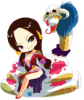 Mon personnage pour le jeu ChibinoYume Boa Hancock !
