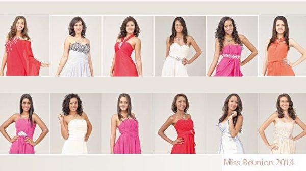 Candidates Miss Réunion 2014