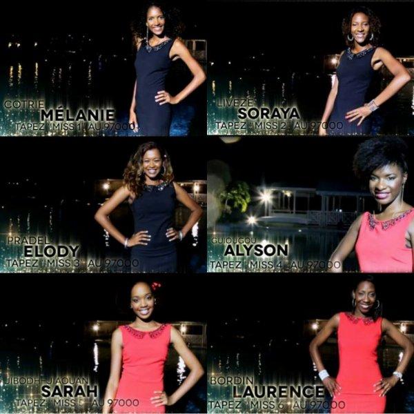 Candidates Miss Guadeloupe 2014
