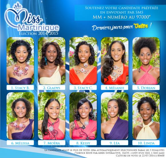 Candidates Miss Martinique 2014