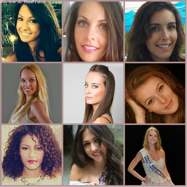 Candidates Miss Provence 2014