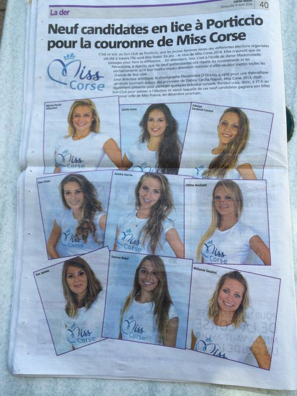 Candidates Miss Corse 2014