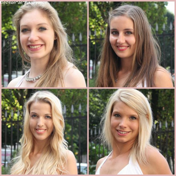 Candidates Miss Normandie 2014