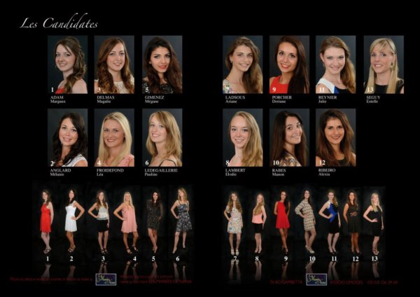 Candidates Miss Limousin 2014