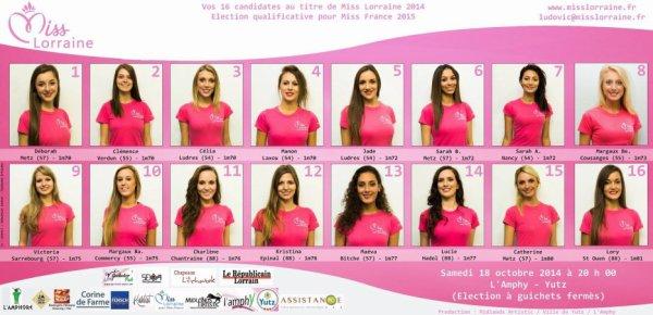 Candidates Miss Lorraine 2014